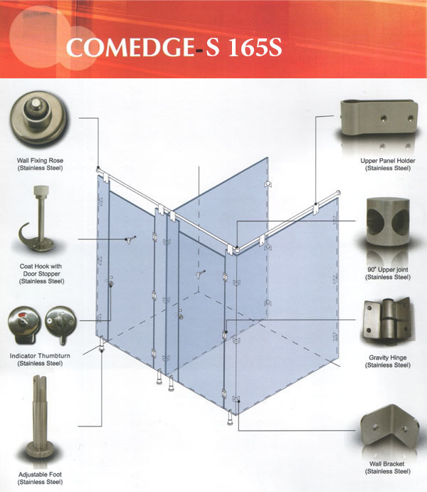 COMEDGE Compact Cubicle System Sanitary Ware