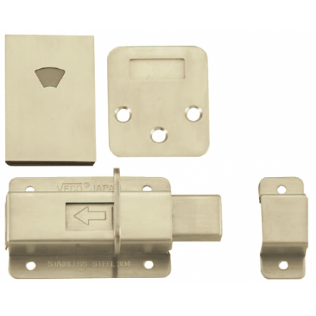Veco - Stainless Steel Toilet Indicating Bolt - DL70 - Door Hardware