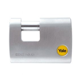 Yale Silver Series Outdoor Brass/Satin Straight Shackle Padlock (Boron Shackle) 60mm