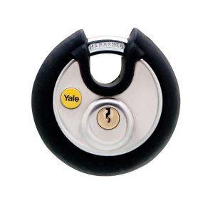 Yale Silver Series Stainless Steel Disc Padlock (Soft Rubber Bumper)
