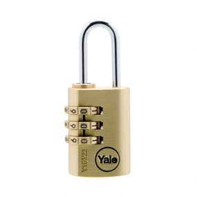 Yale Class Series Indoor Solid Brass Combination Padlock 22mm