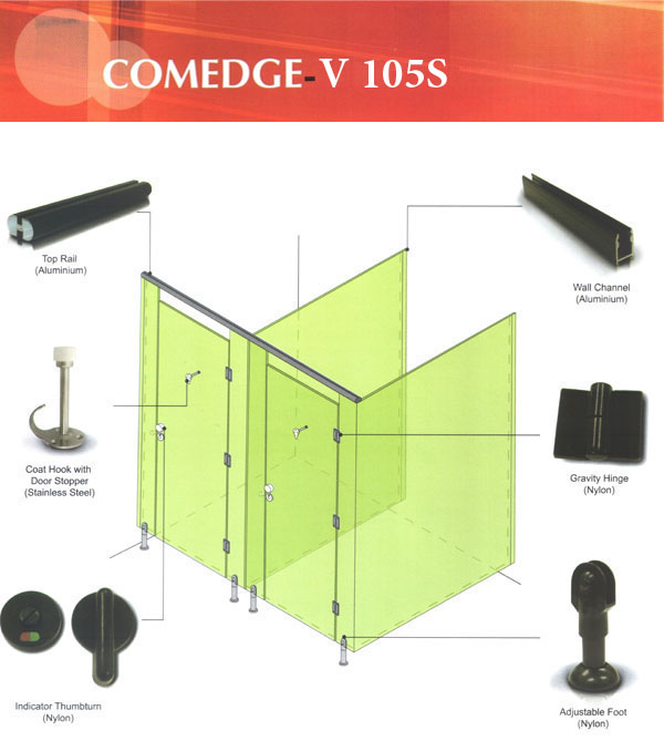 Toilet Cubicle System - V105S