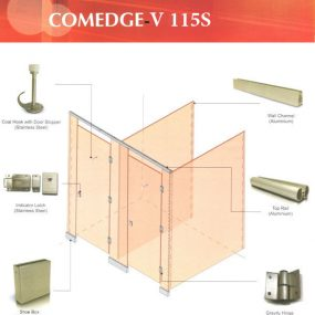 Toilet Cubicle System - V115S