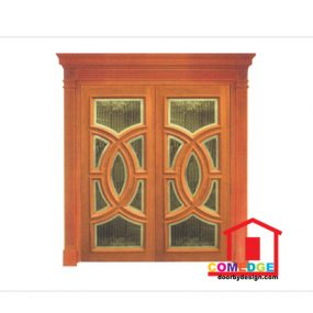 Classical Main Door With Temperated Glass - Classical Main Door – CT-IDA 99