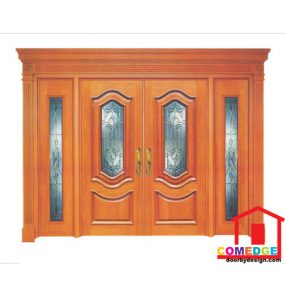 Classical Main Door With Temperated Glass - Classical Main Door – CT-IDC 11