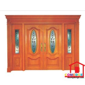Classical Main Door With Temperated Glass - Classical Main Door – CT-IDC 1
