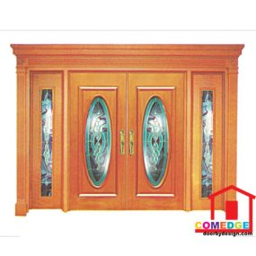 Classical Main Door With Temperated Glass - Classical Main Door – CT-IDC 33