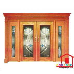 Classical Main Door With Temperated Glass - Classical Main Door – CT-IDC 40
