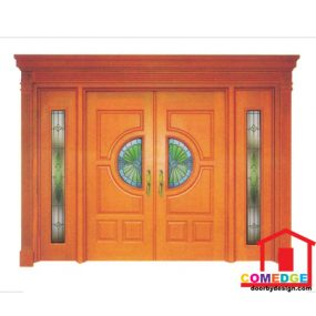 Classical Main Door With Temperated Glass - Classical Main Door – CT-IDC 60