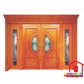 Classical Main Door With Temperated Glass - Classical Main Door – CT-IDC 61
