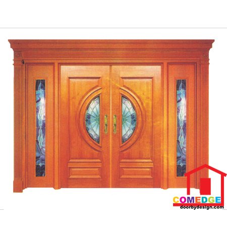 Classical Main Door With Temperated Glass - Classical Main Door – CT-IDC 61