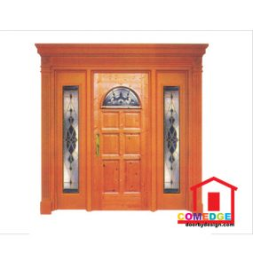 Classical Main Door With Temperated Glass - Classical Main Door – CT-IDC 98