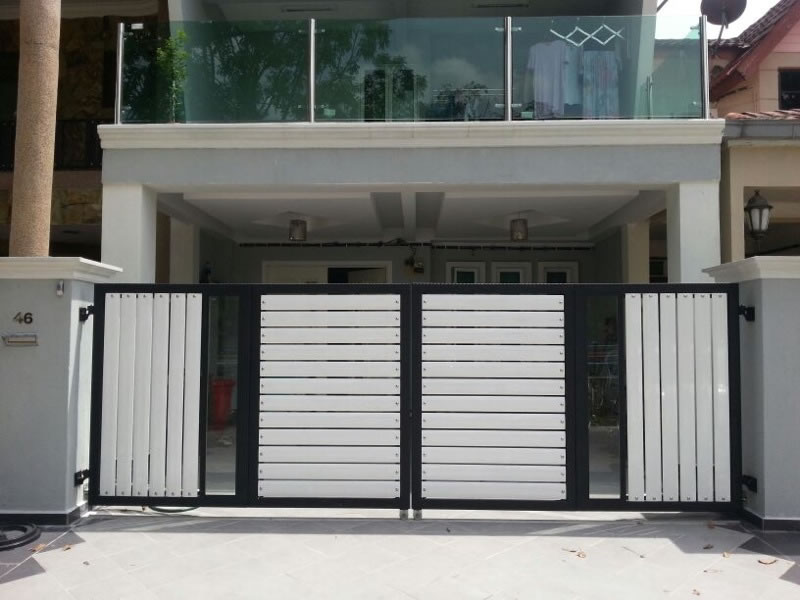 Stainless Steel Entrance Gate 07 Door Manufacturer