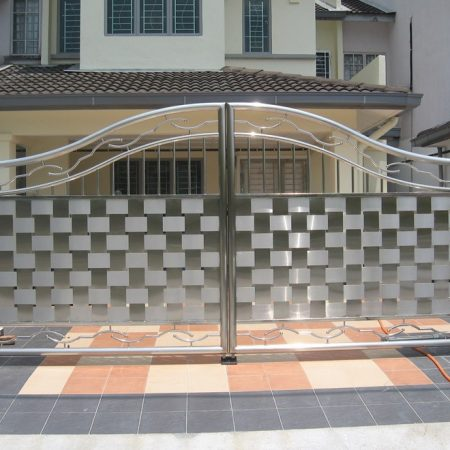 Stainless Steel Entrance Gate 08