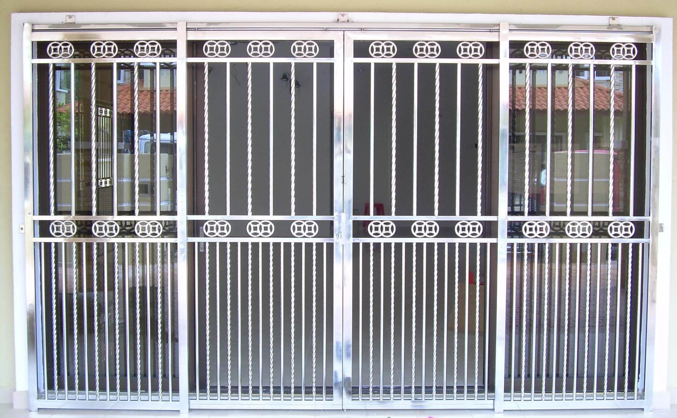 Stainless steel entrance gate 09 door manufacturer for Door design steel