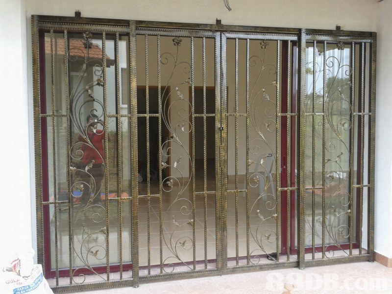 Steel work grill gate 15 door malaysia security door for Door design steel