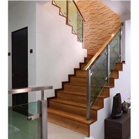 Staircase Railing & Glass